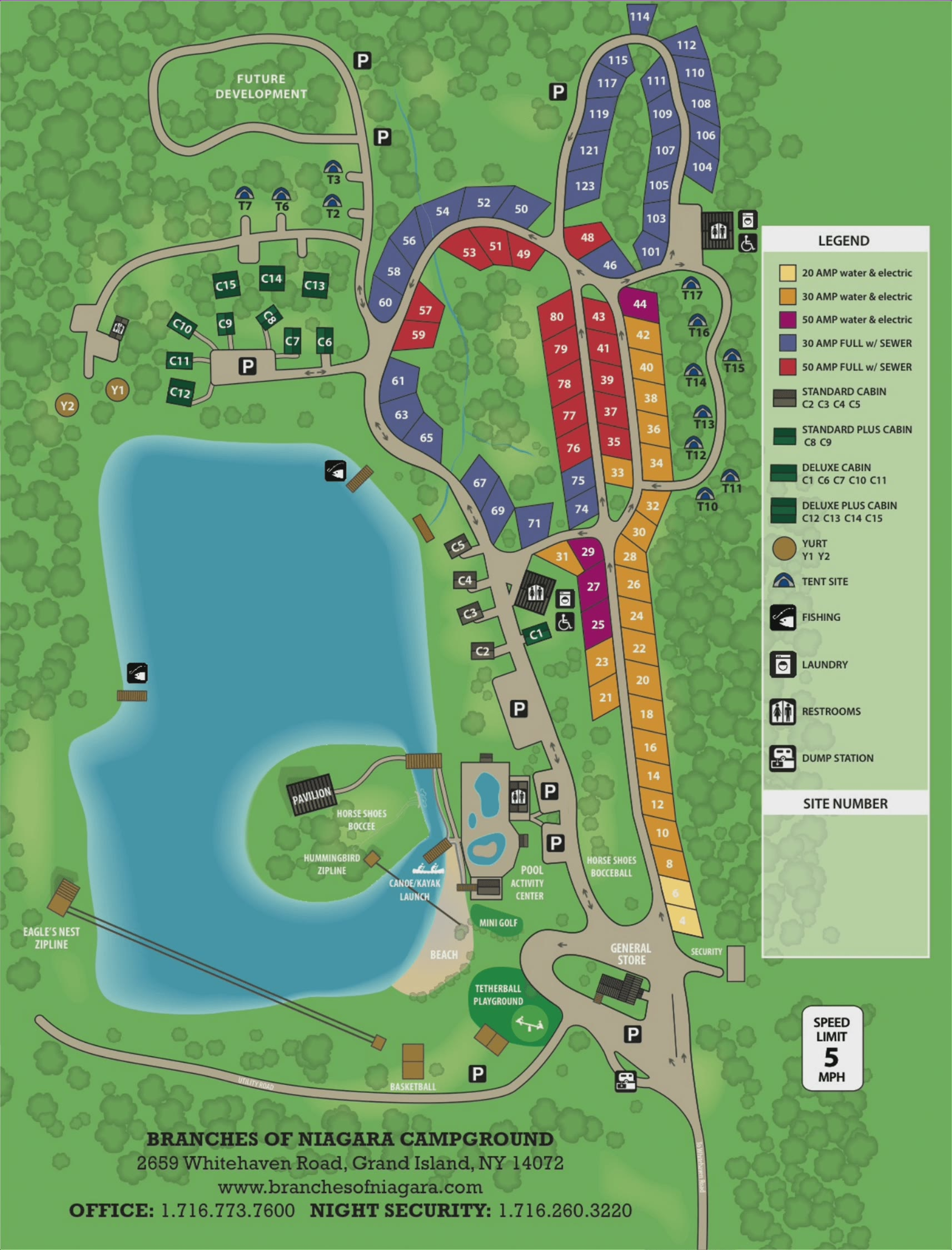 Camp map - Branches of Niagara
