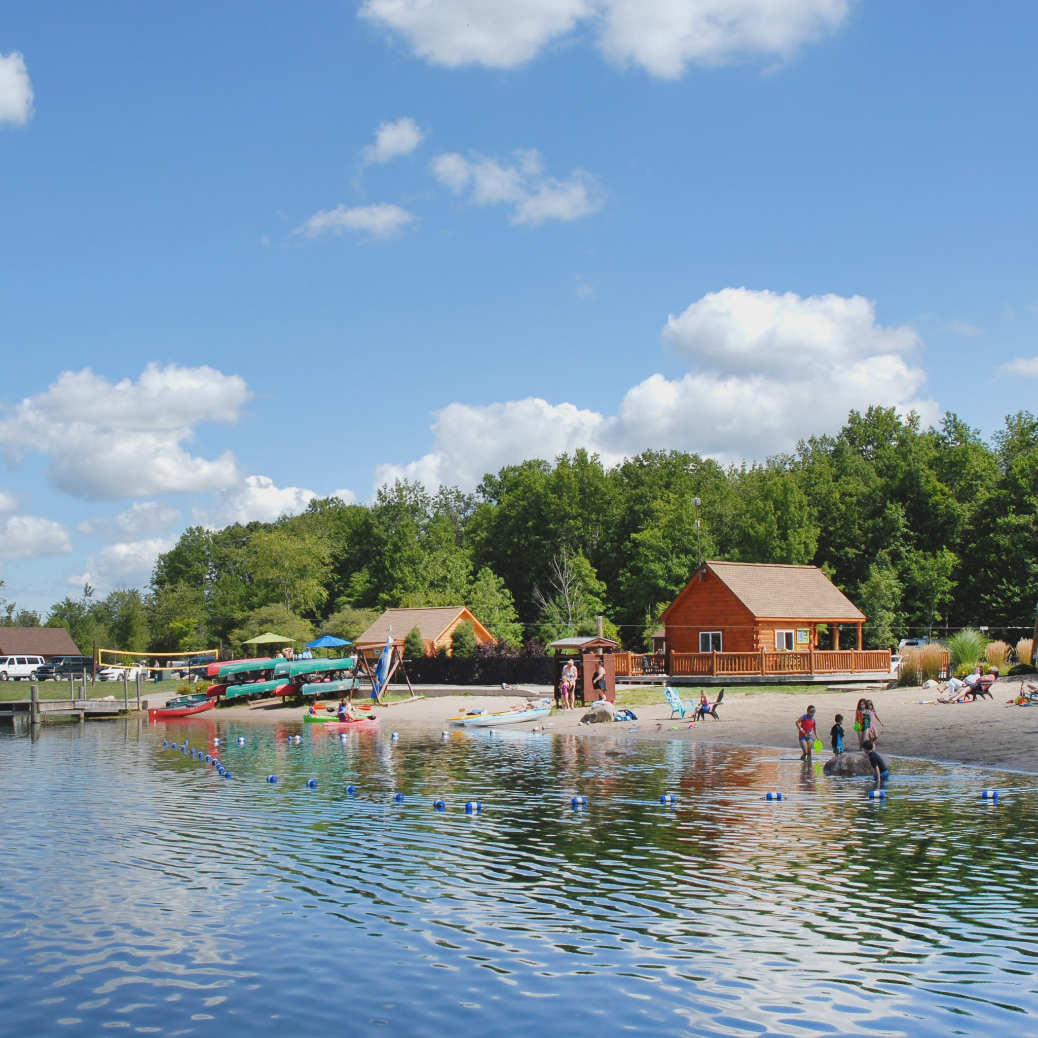 Beach and boat area at Branches of Niagara