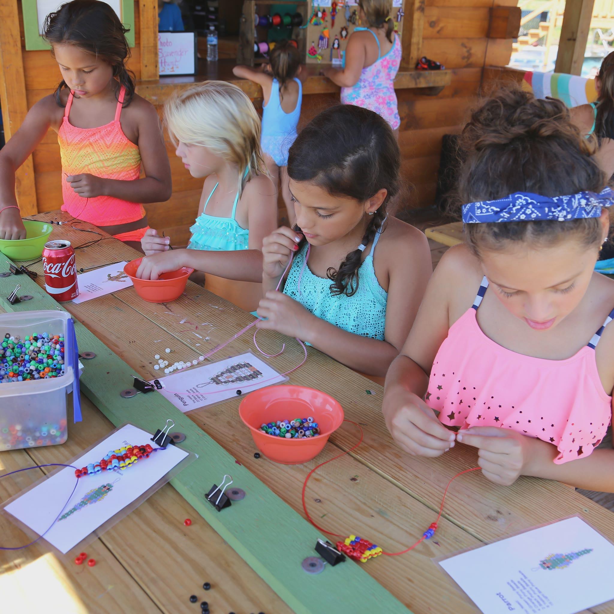 children at an activity center