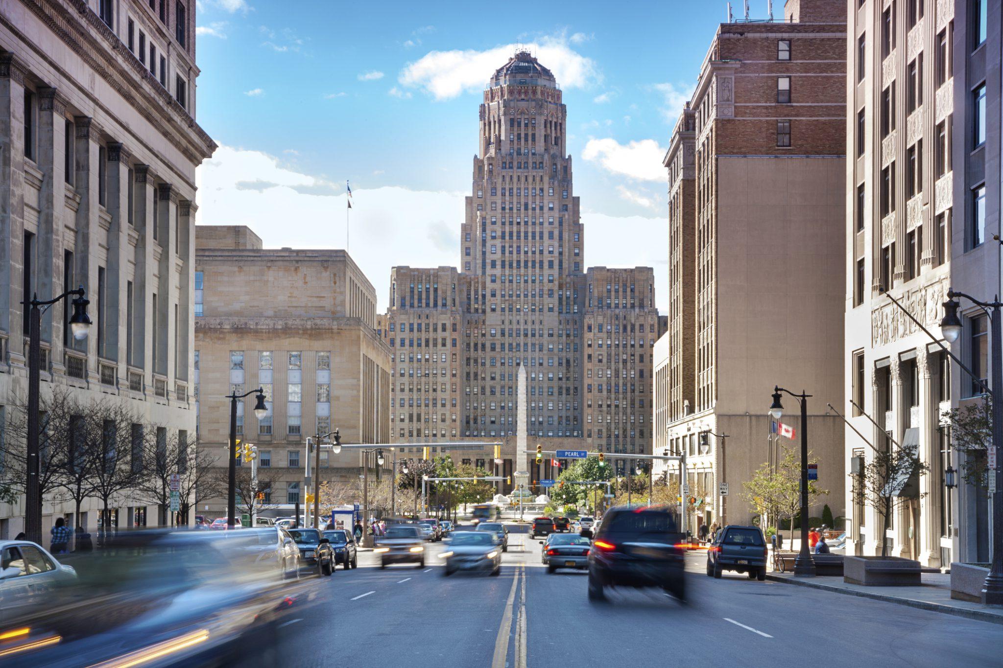 Buffalo, NY view of city hall