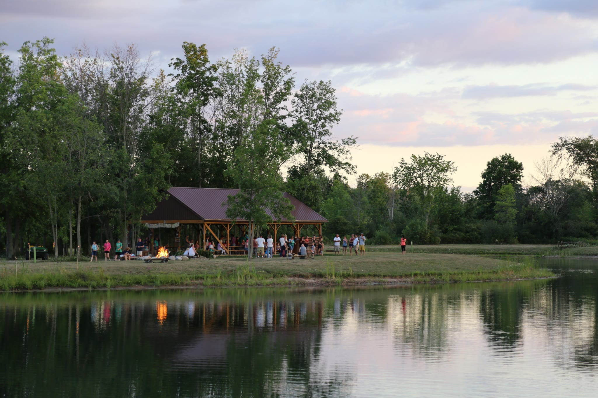 event at a pavilion at Branches of Niagara Campsite