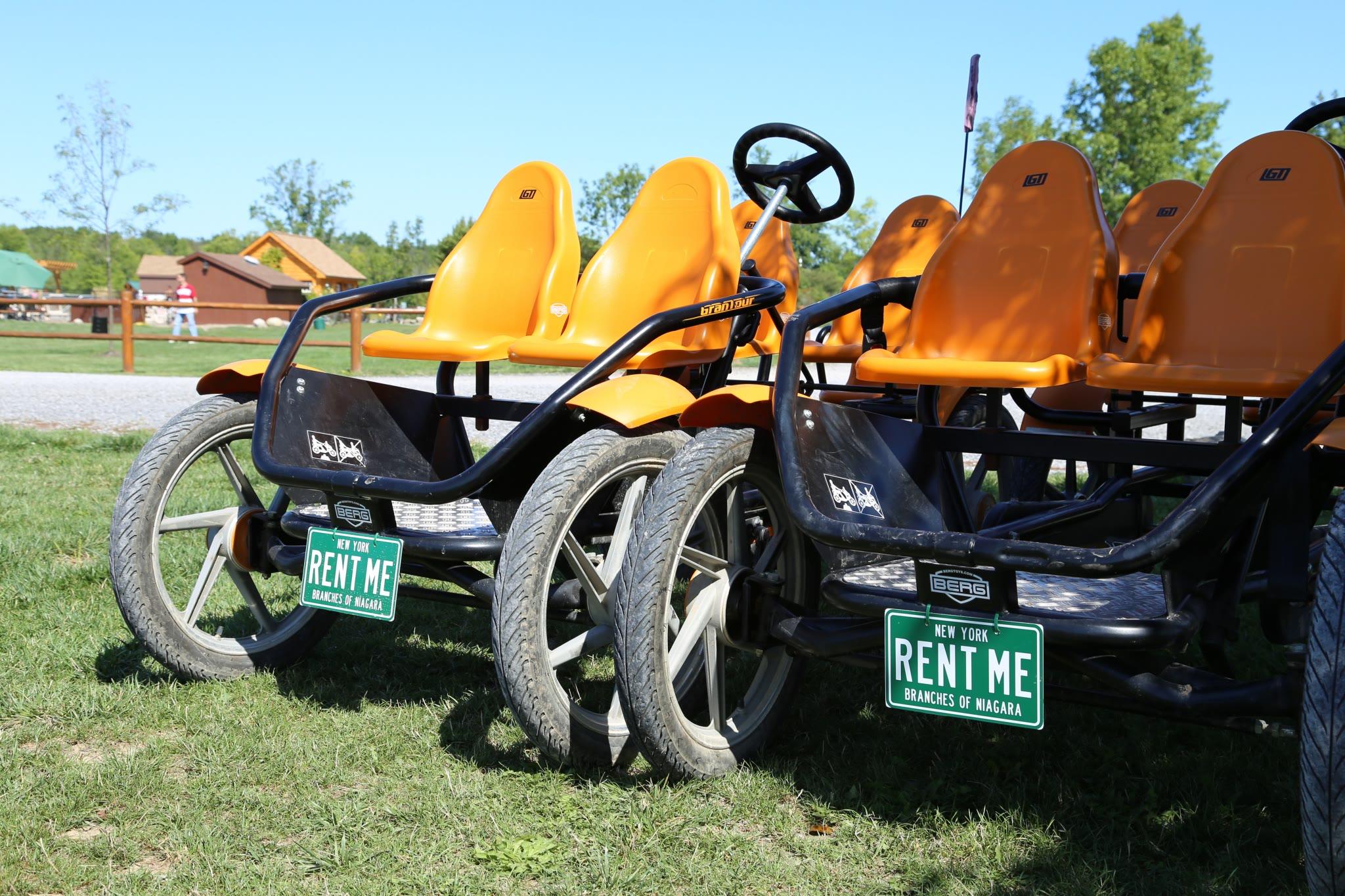 pedal bikes at Branches of Niagara campground & resort