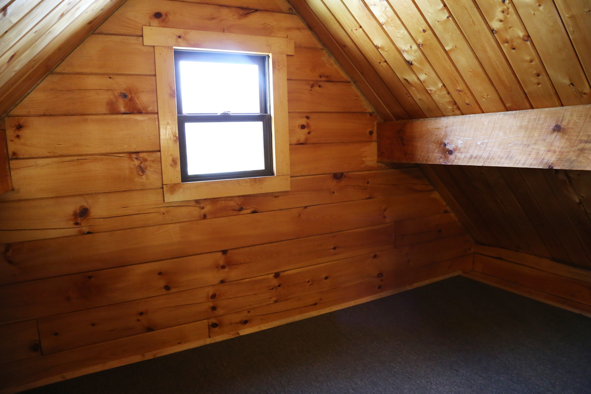 In the loft of the standard cabin