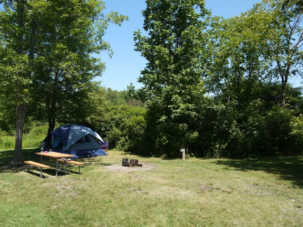 Tent site at Branches of Niagara Campground