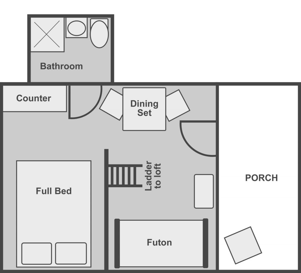 Floor plan of the standard plus cabin