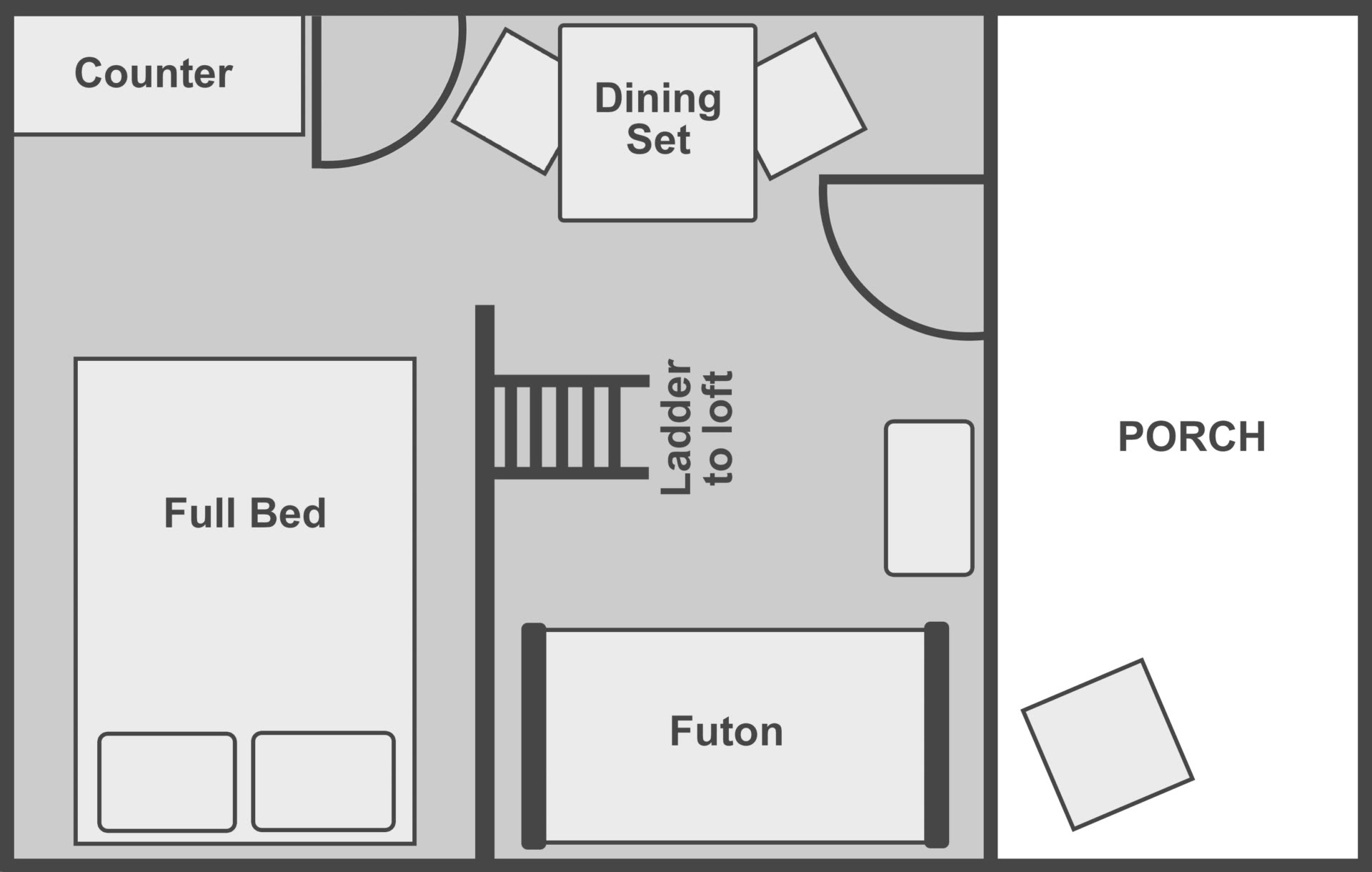 Floor plan of the standard cabin