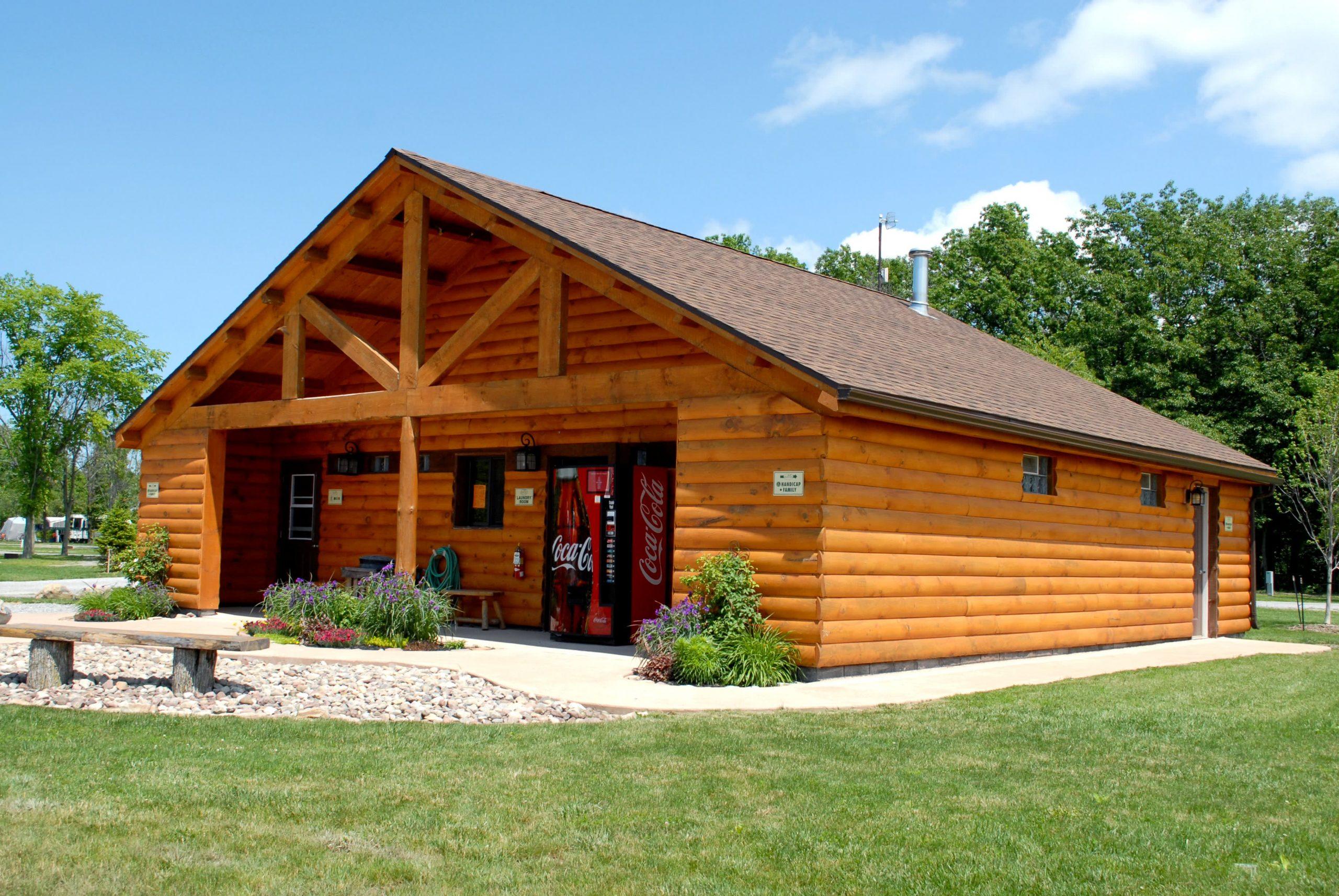Log Cabin wood bathhouse