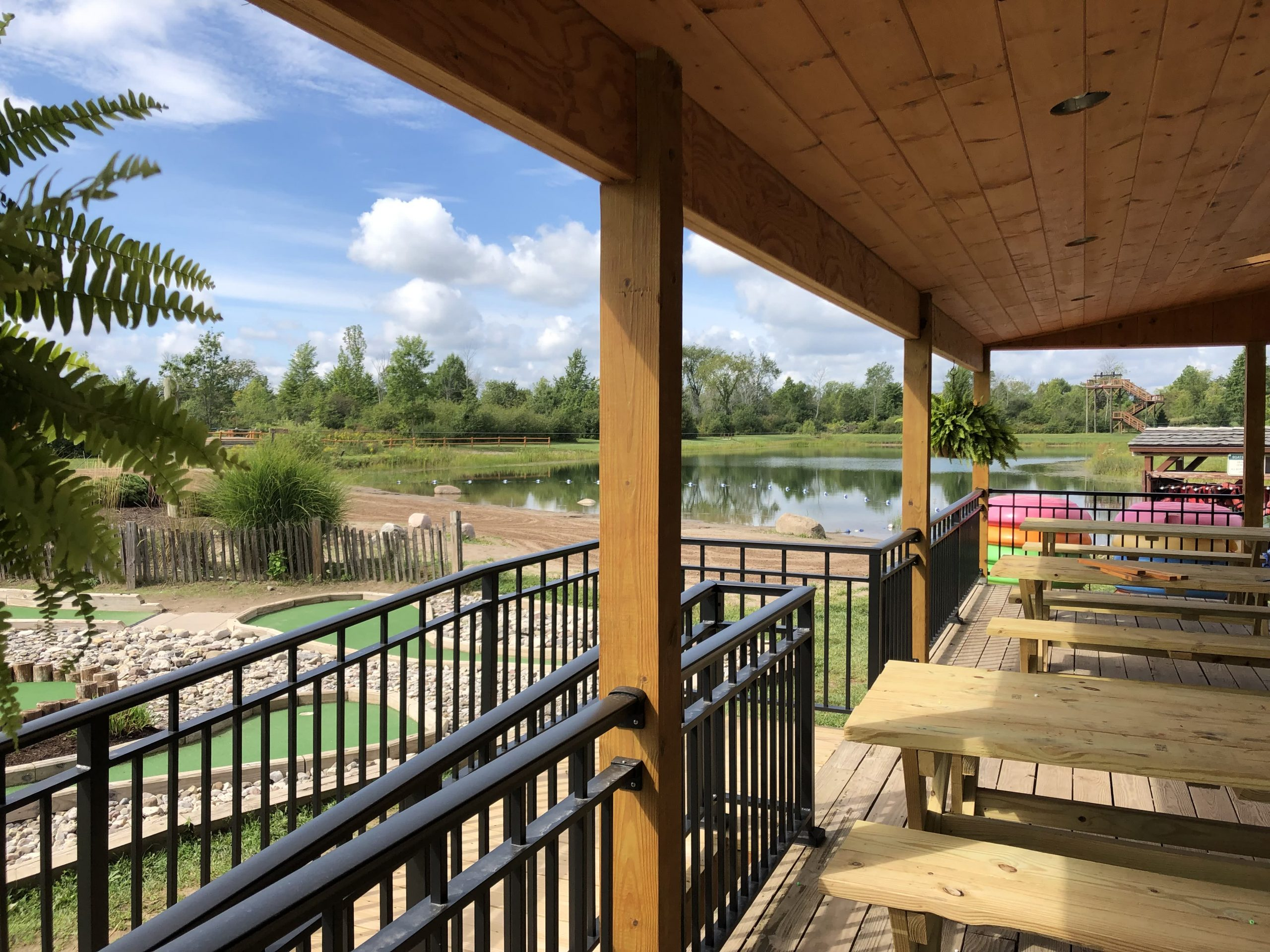 activity center with view of lake