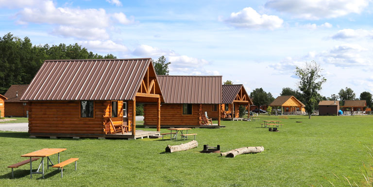 cabins at a campground